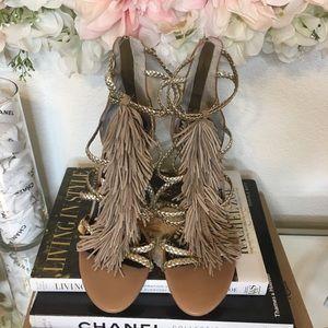 5bc2aad83a56 Sam Edelman Shoes - NEW Sam Edelman Savannah Fringe Gladiator Heel 8.5
